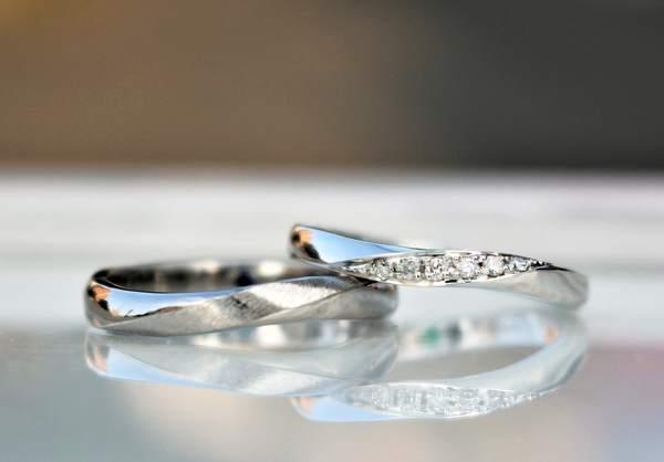 結婚指輪(マリッジリング)K18WG,PT900