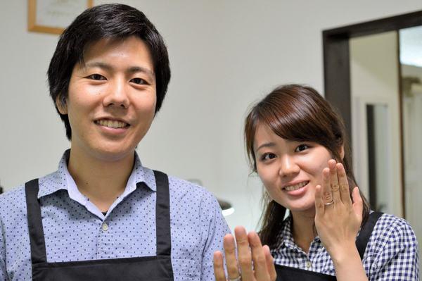 自分たちで作る手作り結婚指輪 鍛造コース 長崎県からお越しの I様ご夫婦