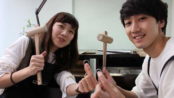 手作り結婚指輪鍛造コース 飯塚市からお越しのお客様