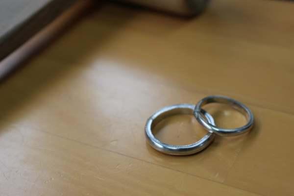 手作り結婚指輪・鍛造コース(岡山県からお越しのお客様)
