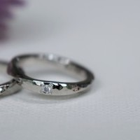 カップルレポート手作り結婚指輪 お互いの誕生石のサムネイル